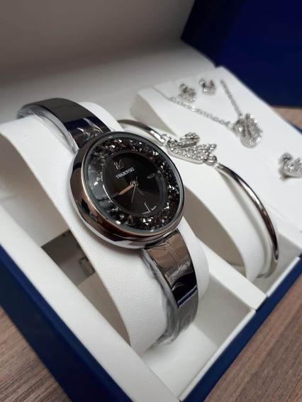 Relogio Swarovski Crystalline Pure Box Novo Caixa Original