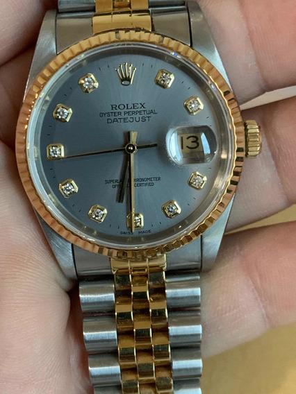 Bellicimo Rolex Datejust Acero Oro 18k Diamantes Zafiro Sub
