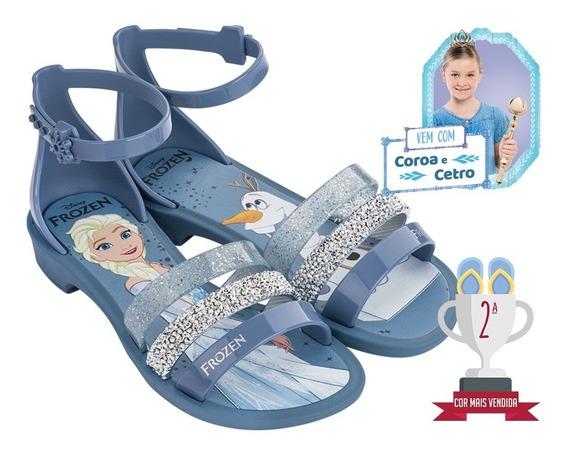 Sandalia Frozen Royal + Brinde - Azul/prata - Ref. 21.834