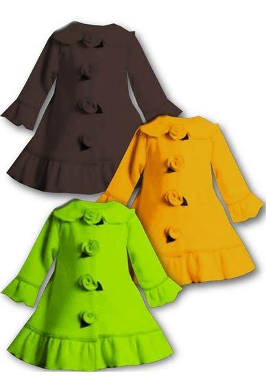 Chaquetas Suéter Abrigo Rosas Para Niñas