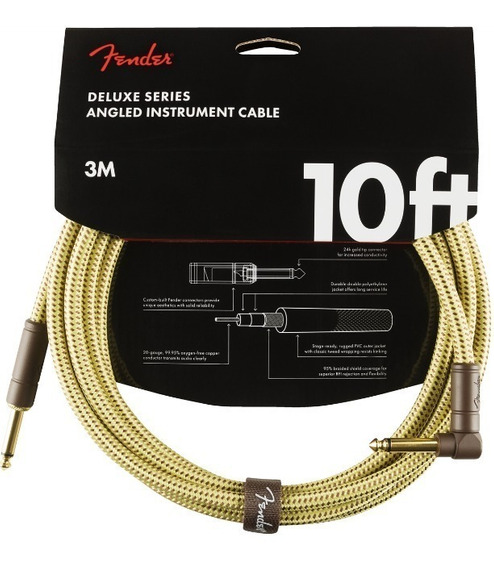 Cable Fender 0990820091 Plug Angulo 3 Mts Tweed Deluxe !!