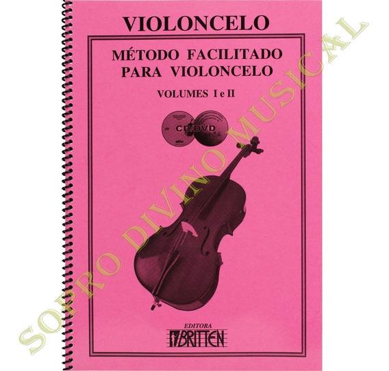 Método Facilitado Para Violoncelo Volume 1 E 2 Com Cd E Dvd