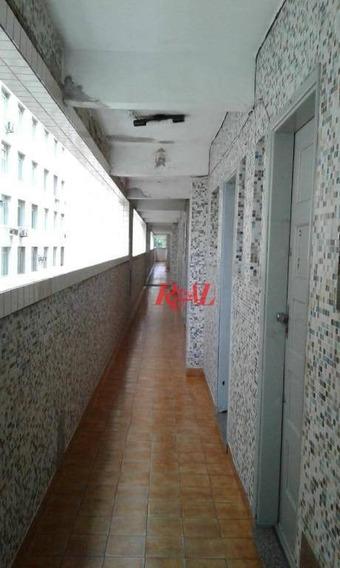 Kitnet Com 1 Dormitório Para Alugar, 30 M² Por R$ 1.200,00/mês - José Menino - Santos/sp - Kn1567