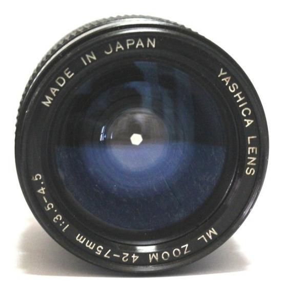 Lente Yashica 24-75mm Retro Coleção P/ Retirada De Peça