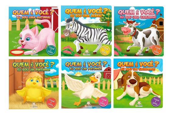 Livro Cartonado Interativo Crianças + 3 Anos Toque E Sinta