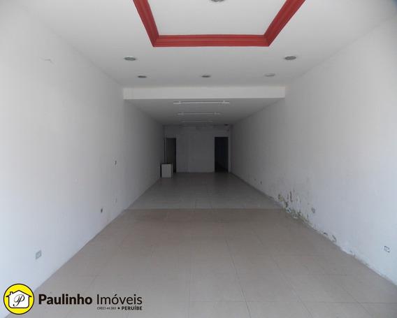 Salão Comercial Com 135 M² No Centro De Peruíbe - Sl00094 - 33296060