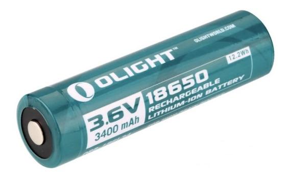 Bateria Olight 18650 3400mah 3.6v Recarregável Lithium-ion