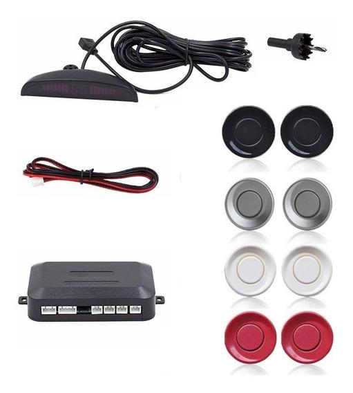 Sensor De Estacionamento Ré 4 Sensores Sinal Sonoro Display
