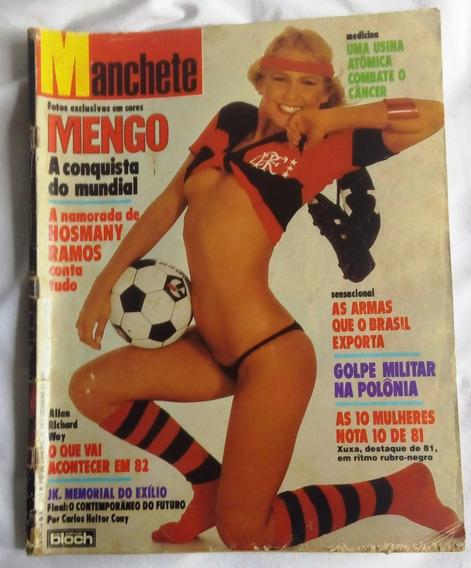 Revista Manchete - 1981 - Flamengo Campeão Mundial E Xuxa