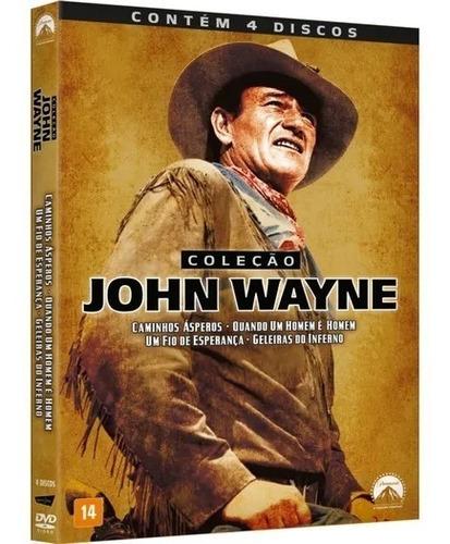 Dvd Colección John Wayne 4 Películas Doblaje Latino