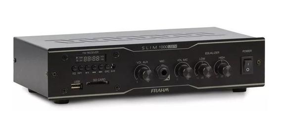 Amplificador Receiver Frahm Slim 1000 Usb - Até 12 Caixas
