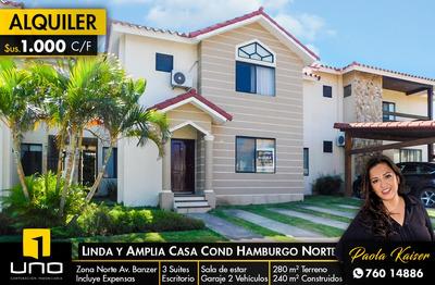 Preciosa Y Amplia Casa En Condominio Con 3 Suites