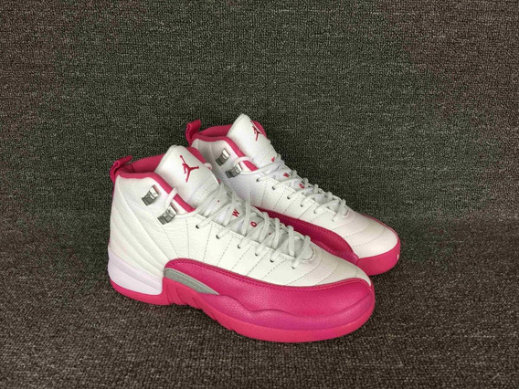 Tenis Jordan 12 Pink Strong