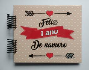 Álbum Scrapbook Namorados - Feliz Um Ano De Namoro #b