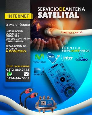Servicio Tecnico Instalacion Directv Movistar Inter Sate