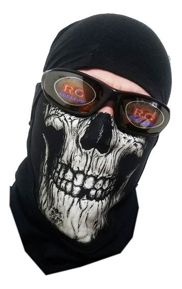 Cuellos Estampados Abrigados Térmicos Moto Punisher Skull