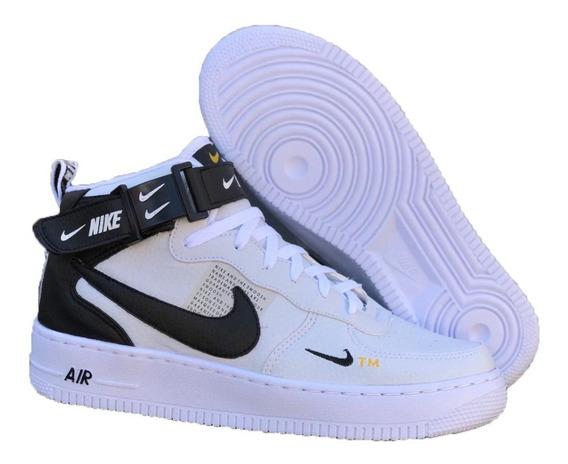 Tenis Bota Nike Air Force + Grátis 1 Par De Meia