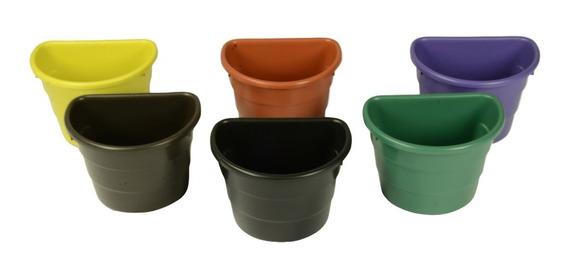 30 Vaso De Parede Meia Lua Para Jardim Vertical 3 Litros