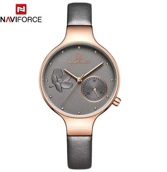Relógio Feminino Naviforce Cinza
