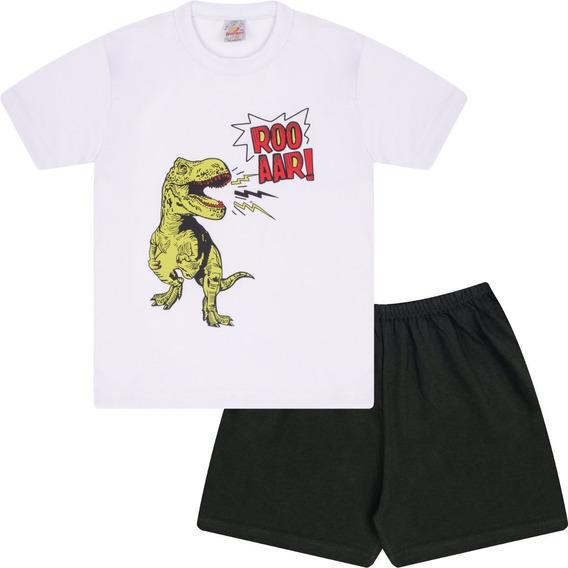 Pijama Infantil Menino Conjunto Camiseta Manga Curta E Short