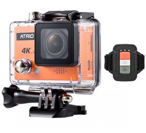 Câmera Mergulho Capacete Atrio 4k Go Wifi + Case Prova Dagua