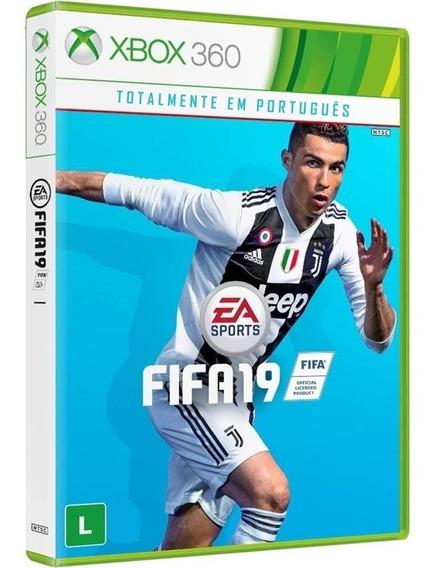 Jogo Fifa 19 Xbox360 Disco Fisico Original Nacional Novo Narrado Português Futebol 2019