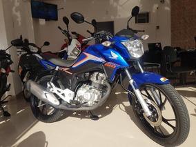 Honda Cg 160 Titan Ex 2018 Azul 5000 Km