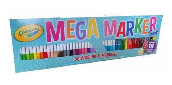 Plumones Lavables Crayola Super Tips 50 Piezas