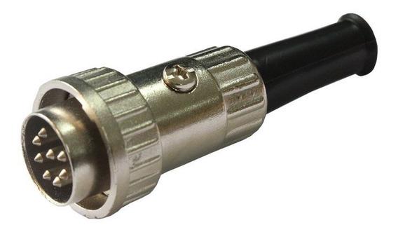 Conector Circular Macho 8 Vias 5a Metaltex