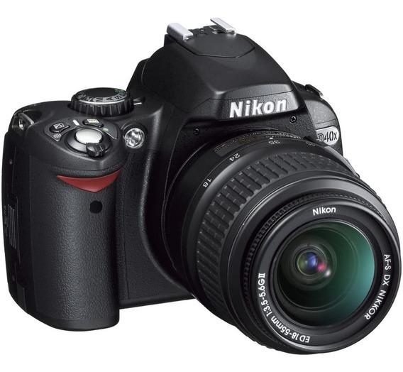 Camera Nikon D40 Profissional Dslr + Lente + 32 Gb Semi Novo
