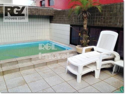 Cobertura  À Venda, 257 M² Por R$ 1.570.000 - Aparecida - Santos/sp - Co0100