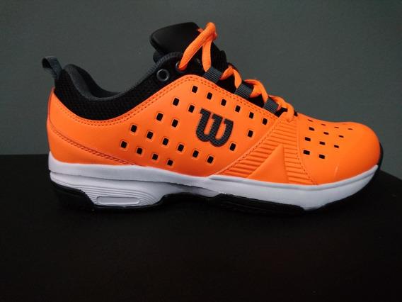Zapatillas Tenis Wilson Set Hombre Orange/black (l1m1c) S+w