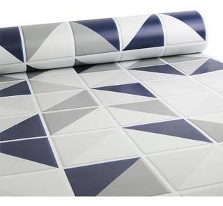 Papel De Parede Azulejo Retângulo - Várias Cores