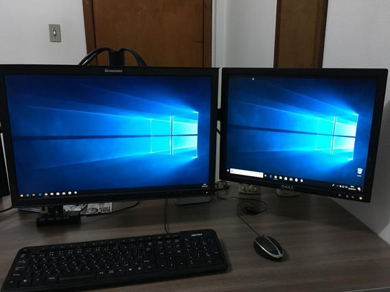 Computador Completo 2 Monitores, Core I3, 4gb, Hd 500gb