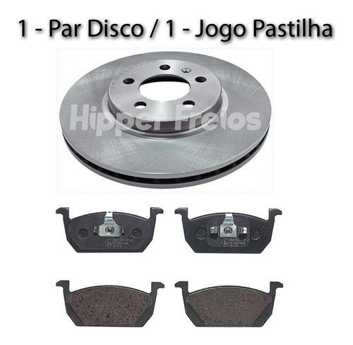 Disco E Pastilha Freio Dianteiro Vw Polo Comfortline Tsi