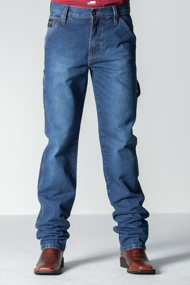 Calca Jeans Masculina Carpinteira -road Wash
