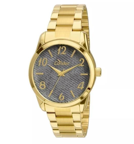 Relógio Condor Feminino Dourado Fashion Co2039ab/4c Lindo