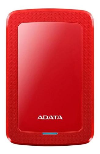 Imagen 1 de 3 de Disco duro externo Adata AHV300-2TU31 2TB rojo