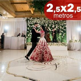 Tapete Pista De Dança Personalizado Casamento 2,5x2,5m