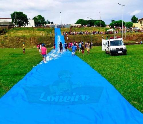 Imagem 1 de 5 de Lona 20 X 5 Mt Skibun Escorregador Recreação Esqui Escorrega