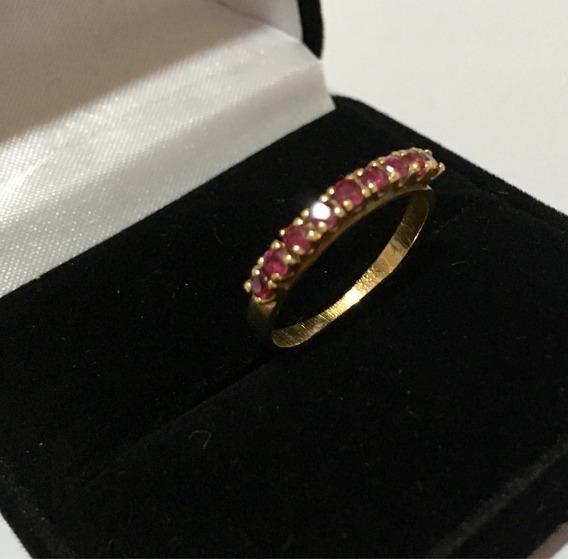 Anel Ouro Com Rubi Antigo