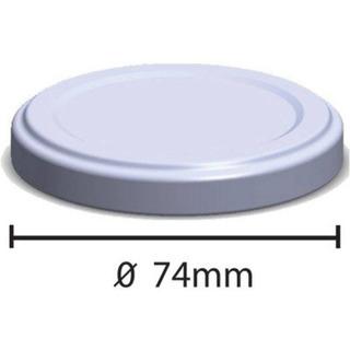 100etiqueta Lacre Termoencolhivel 100tampa Metal Branca 74mm