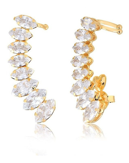 Brinco Ear Cuff Crystal