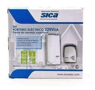 Portero Electrico Sica Kit Frente Exterior Y Telefono