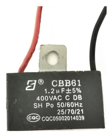 Capacitor 1,2uf X 400vac +- 5% Cbb61 Ventilador Com 2 Fios