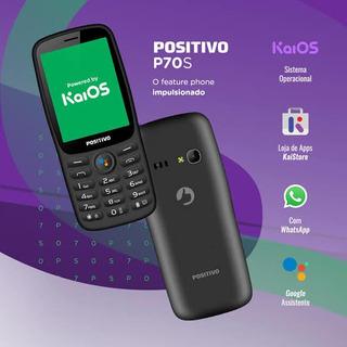 Celular Positivo P70s 3g Wifi 4gb Whatsapp Facebook Kaios