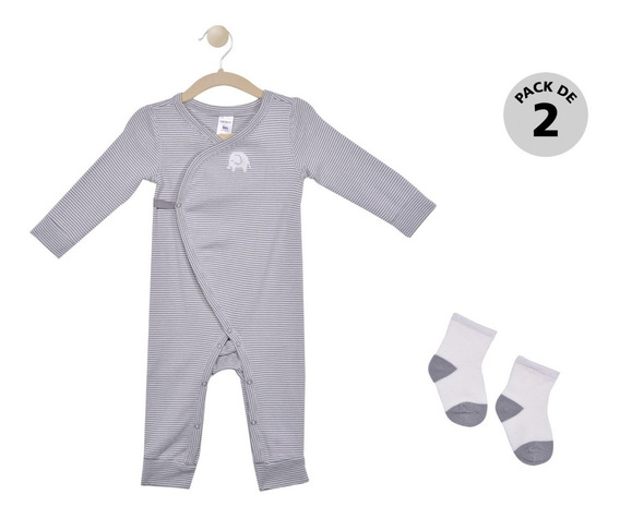 Mameluco Y Calcetines Carters Gris Unisex 126h5040