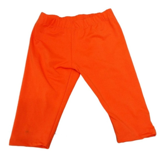Calza Corta Ciclista Nena Naranja Fluo