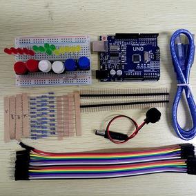 Kit Arduino Uno Smd R3 Iniciante + Protoboard + De 80 Pcs!