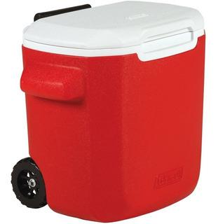 Caixa Térmica Cooler Cerveja Coleman Vermelho 15,2 L C Rodas